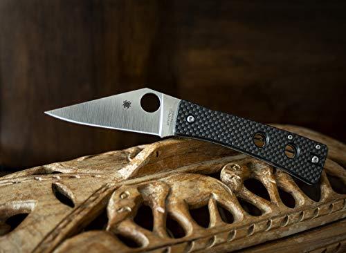 "Spyderco WATU Ethnic Series Folding Knife with 3.26"" CPM 20CV Steel Blade and Carbon Fiber/G-10 Laminate Handle - PlainEdge - C251CFP"