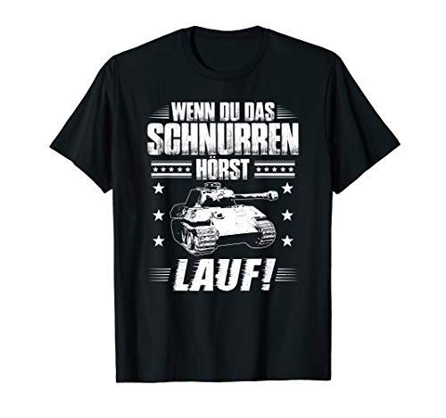 Panzerfahrer Kampfpanzer Schnurren Militär Panzer T-Shirt