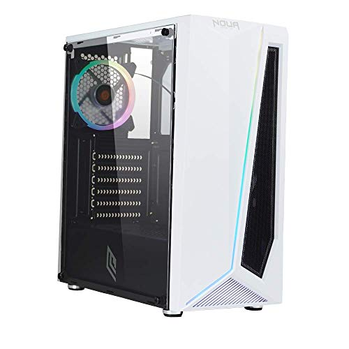 GOLOOK • PC Desktop Gaming RGB Bianco • Intel i5 • 16GB • SSD 480GB • WiFi • Scheda Video Dedicata GT1030 2GB • Windows 10 Pro X64 • Computer Fisso