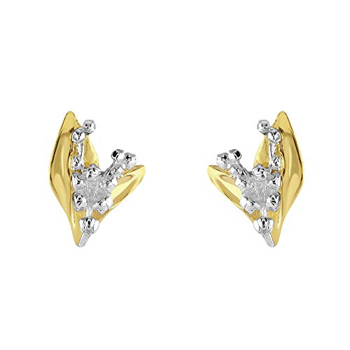 Dew Sterling Silver Lily of the Valley Gold Plate Stud Earrings 40807GD