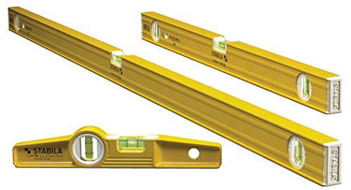 """Stabila 29924-3 Level Magnetic Pro-Set includes 48"""", 24"""" and Die-Cast Torpedo"""