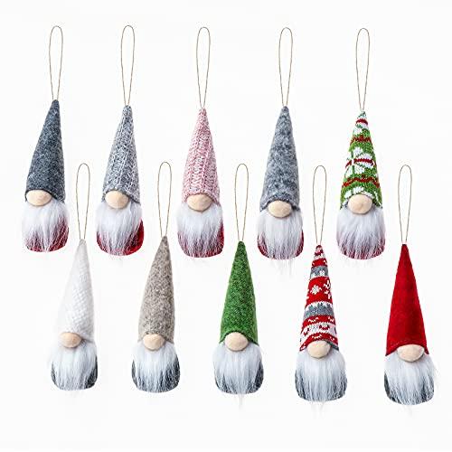 10 Pezzi Ornamenti Pendenti Degli Gnomi Dell'Albero Di Natale, Fatti A Mano Svedese In Peluche, Per Rifornimenti Della Decorazione Dell'Albero Di Natale