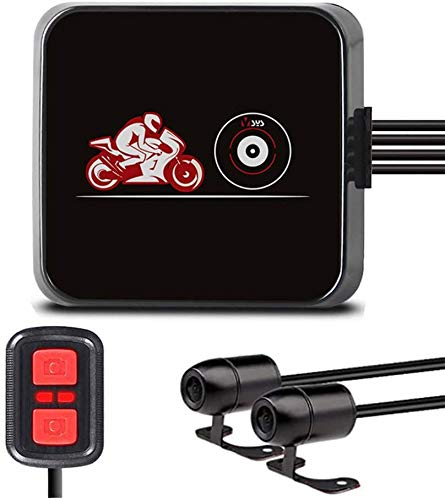 VSYSTO Motorcycle Video Driving Recorder Dash cam Dual 2 Channels Lens Front & Rear 1080P Backup Camera with WiFi Night Vision