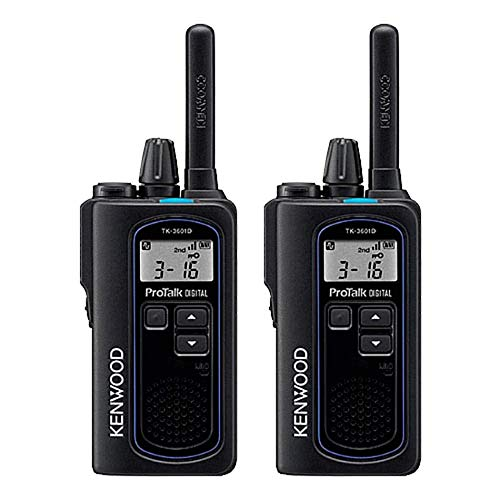 Kenwood NX-P500 ProTalk Digital Two-Way Radio (Pack of 2), Loud Audio, Rugged and Submersible, Analog and Digital Mode, 6 Channel Operation, Individual and Group Calls, 99 User-Programmable Frequencie