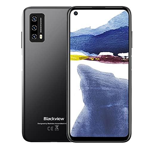 Smartphone Offerta, Blackview A90 Android 11 Dual SIM 4G Cellulari Offerte, 6.39 Pollici HD+ Schermo, Octa-core 4GB+64GB Cellulare Telefono, 12MP+8MP, 4280mAh Batteria Telefono Cellulare