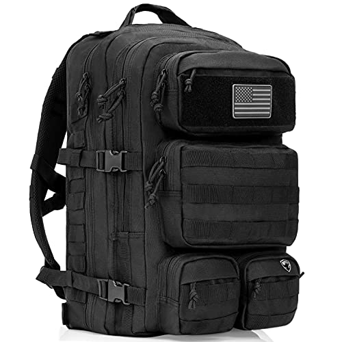 Tactical Backpack For Men - Military Backpack - Bug Out Bag - 50L Water Resistant