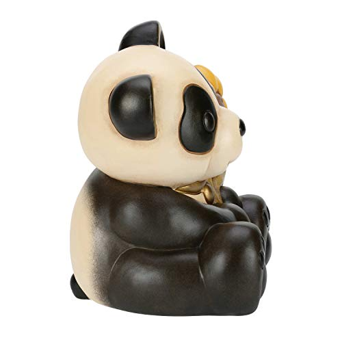 THUN® - Panda Grande con Girasole - Animali da Soprammobile da Collezione - Ceramica - I Classici
