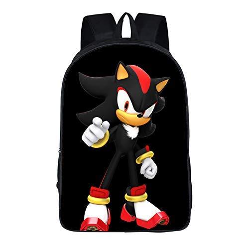 min min Sonic School Bag 16-Inch Sonic Elementary y School School Descompression Mochila de Gran Capacidad de descompresión