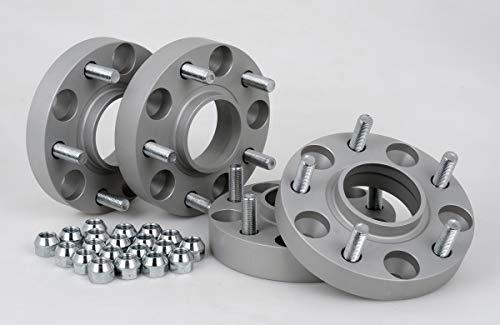 Separadores de ruedas de aluminio, 4 unidades (25/30 mm por disco, 50/60 mm por eje), incluye certificado TÜV