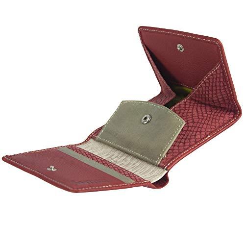 Sunsa Geldbörse für Damen Kleiner Leder Geldbeutel Portemonnaie mit RFID Schutz Brieftasche mit viele Kreditkarten Fächer Geldtasche Wallet Purses for Women das Beste Gift kleine Geschenk 81663