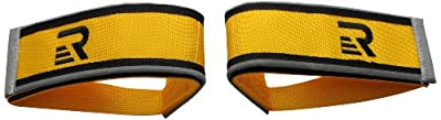 Retrospec Bicycles Fixed-Gear Track BMX-Style Foot Retention FGFS Velcro Straps with Reflective Fabric, Yellow