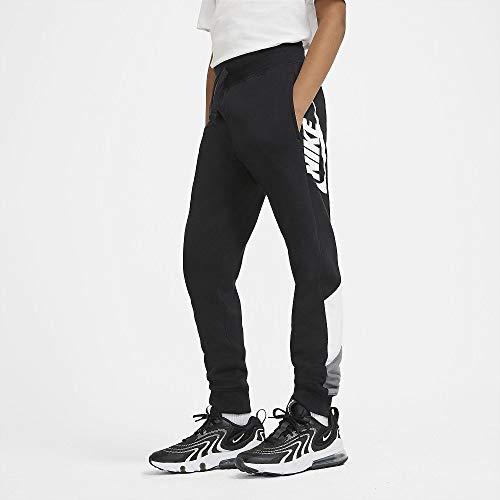 Nike Jungen B Nsw Core Amplify Pants, Black/White/Smoke Grey/(White), 12 Jahre EU