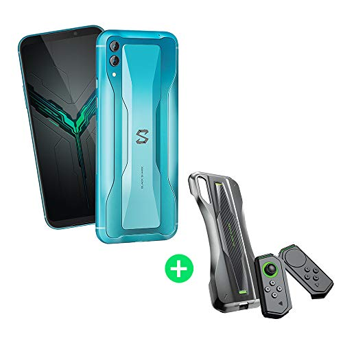 Black Shark 2 8GB+128GB Azul con Pro Kit (Black Shark Funda Protectora + Mandos de Gamepad Versiones Izquierda/Derecha) Dual SIM, Snapdragon 855, Adreno 640 GPU, Nuevo, Móvil, Teléfono de Juego