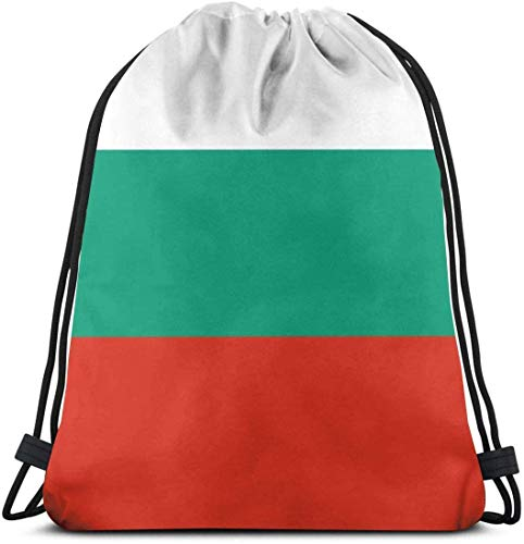 Yuanmeiju Bulgarian Flag Drawstring Backpack for Unisex Bolsa de Gimnasio 36 x 43cm/14.2 x 16.9 Inch