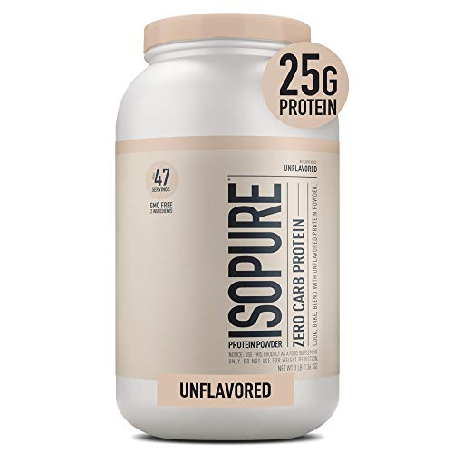 Isopure Zero Carb Unflavored 25g Protein, 100% Whey Protein Isolate, Keto Friendly Protein Powder,...