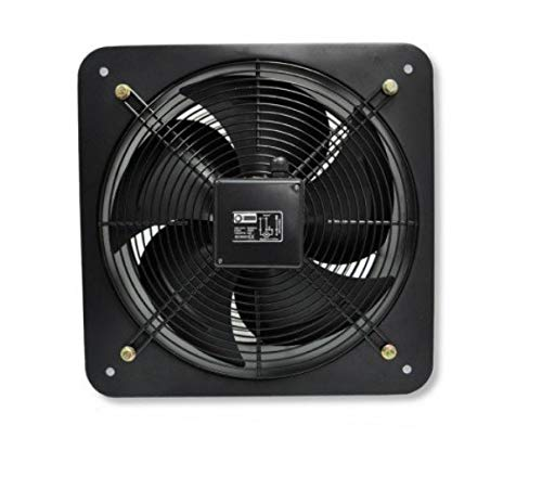 Ventilador Axial de pared 350 mm 3500 m³/h, rejilla de salida de aire