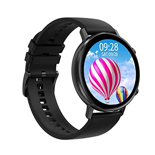 FENGJJ Pulsera Inteligente Pantalla Grande Diente Azul Call Smart Pantalla Smart Sports Watch, Reloj Despertador Llame a Smart Watch IP68 Reloj Inteligente Impermeable,Negro,Adhesive Tape