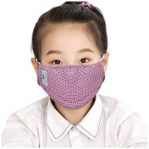 PPangUDing Kinder Mundschutz Waschbar Wiederverwendbar Baumwolle Atmungsaktive Staubdicht Halstuch Bandana Multifunktional Schlauchtuch für Jungen und Mädchen