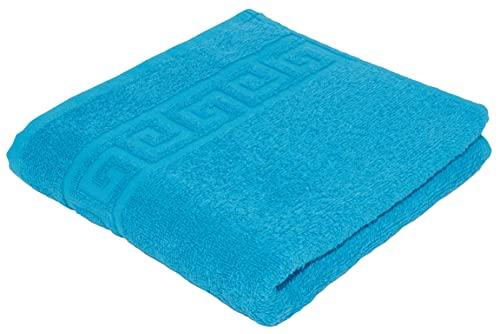 Juego de toallas absorbentes, en rizo de algodón natural, 500g/m², calidad de hotel, toalla de...