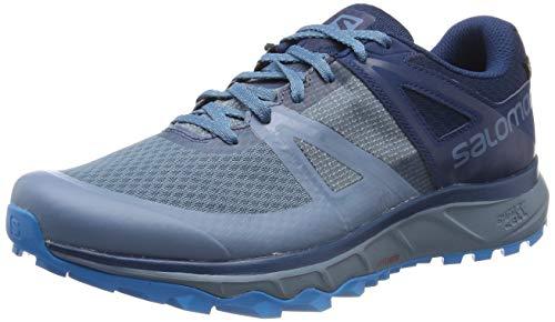Salomon Trailster GTX, Zapatillas de Trail Running para Hombre, Verde (Acid Lime/Graphite/Hydro), 44 2/3 EU