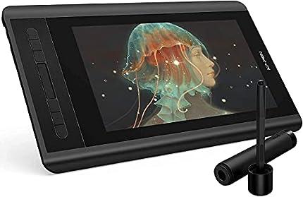 XP-PEN Artist 12 HD IPS Tableta Gráfica de Dibujo Digital con Teclas de Atajo y Panel Táctil Viene con el Último Software de Dibujo de OpenCanvas 7 o ArtRage 5 (Artist12, Negro)