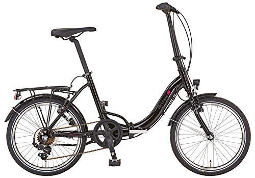 """Prophete Unisex– Erwachsene URBANICER BSU.10 City Bike 20"""" Fahrrad, schwarz, RH 39"""