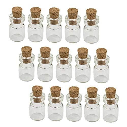 Mini Botellas De Cristal con El Corcho Botellas Tapones Wish De Favores Artes Decoración del Partido Crafts (50pcs)
