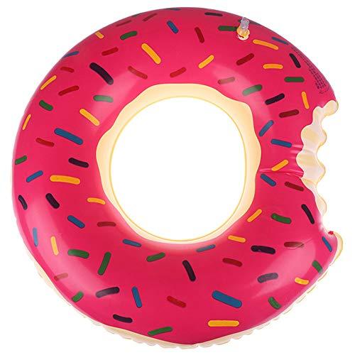 ZHANGY 60CM aufblasbare Donut Schwimmring Pool Float Toy Circle Beach Sea Party aufblasbare Matratze Wasser Adult Kid,Strawberry