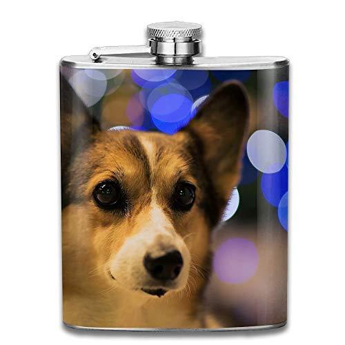 petaca Stainless Steel Hip Flask 7 Oz Dog Full Printed perso