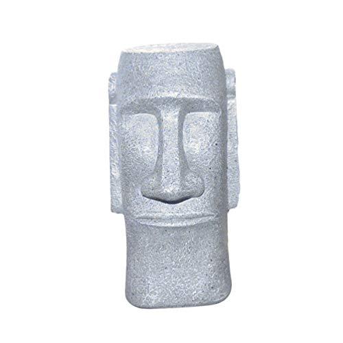 VOSAREA Regalo de decoración de Pascua Estatua de Cabeza de Isla de Pascua alcancía