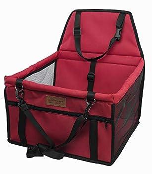 OUTLETISSIMO® Sac de transport rouge pour chiens et chats pour voiture, coffre et housses de siège pour animaux domestiques, 40 x 32 x 24 cm