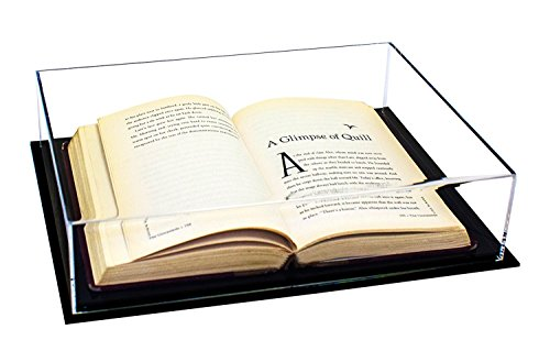 Better Display Cases Deluxe Clear Acrylic Book, Stamp, or Coin Collection Display Case (A029-BDS)