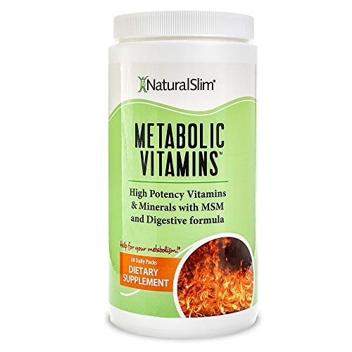 NaturalSlim Metabolic Vitamins, Formulated by Award Winning Metabolism and Weight Loss Specialist- High Potency Vitamins and Minerals with MSM and Digestive Formula (1 Pack)