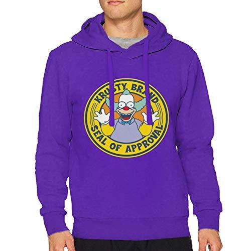 LawrenceCGresham The Simpsons Krusty The Clown Unisex Fashion Hooded Sweatshirt Hoodies Small Purple