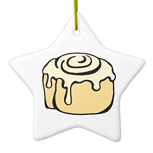 Dant454ty Kaneel Roll Honing Bun Cartoon Ontwerp Grappige Kerstmis Ornamenten Keramische Keepsake Ornamenten Kerstboom Decoratie Opknoping Kerstmis Geschenken voor Kinderen voor Meisjes voor Vrouwen