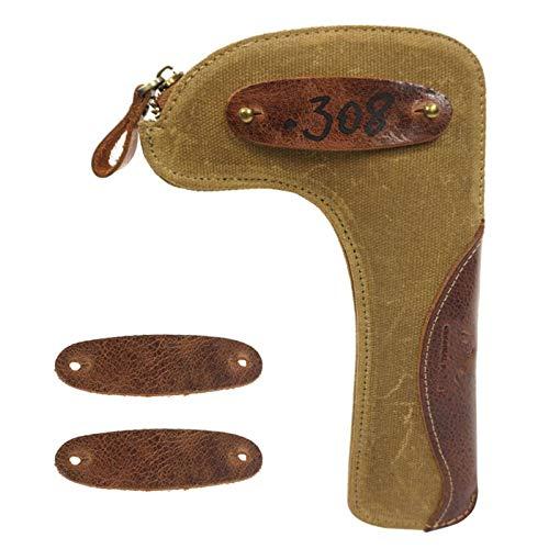 N-brand Tactical Waxed Canvas Rifle Bolt Holder Waist Belt Attachment Bolt Carrier Pouch Case Wallet Hunting Gun Accessories