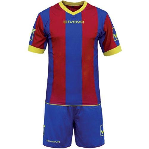 Givova, kit catalano mc, blue clair/granade, XL