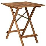 Butlers Lodge Holztisch klappbar 55x55x73 cm- Klapptisch aus FSC-Holz - Kleiner Balkontisch, Gartentisch viereckig