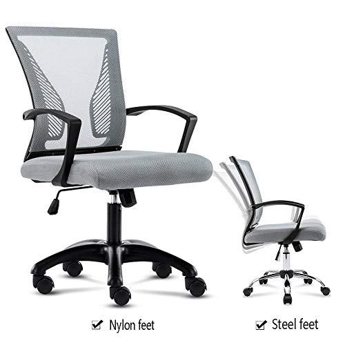 ZQY bureau en bureaustoel, ergonomisch, verstelbaar, draaibaar, voor comfortabele taille. Nylon feet 10 Correas