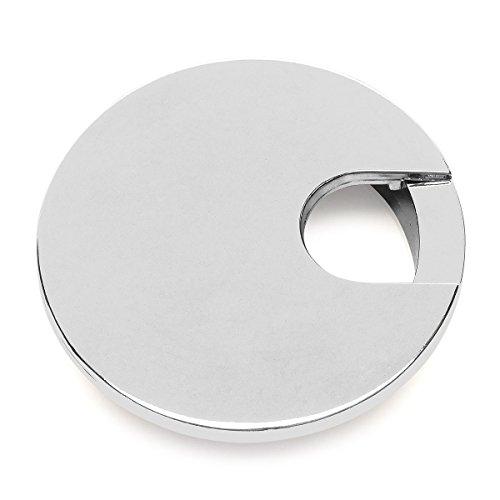 "Cosmas 50203CH Polished Chrome 2-1/2"" Two Piece Zinc (Metal) Desk Grommet - 3"" Overall Diameter"