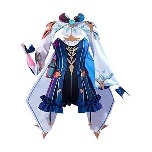 MLYWD Genshin Impact Sucrose Cosplay Costume Anime Lolita Gothic Dress Christmas party L Sucrose