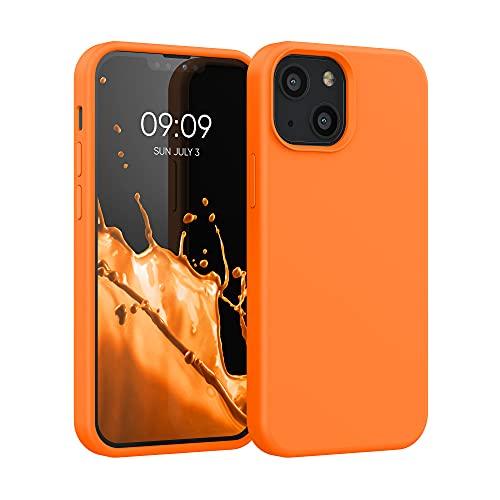 kwmobile Hülle kompatibel mit Apple iPhone 13 Mini - Hülle Silikon gummiert - Handyhülle - Handy Hülle in Cosmic Orange
