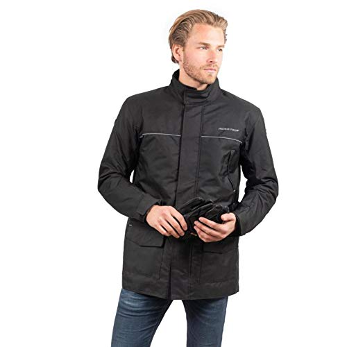 Rider-Tec chaqueta moto invierno 3/4etanche–Carcasa CE, Negro, talla 2X L