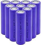 18650 Batteria ricaricabile agli ioni di litio Li-Ion 5000mAh Batteria al litio 3,7v Ricaricabile per torcia frontale-10 pezzi