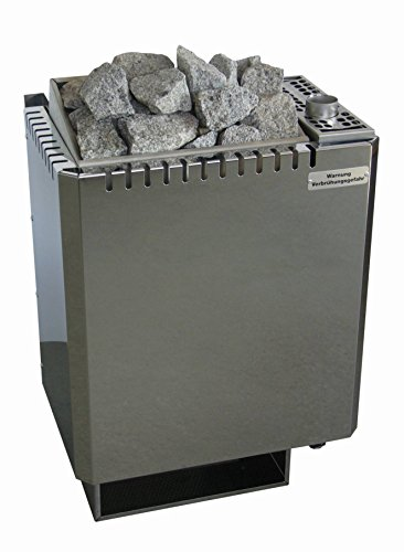 Saunaofen 6,0 kW Wandmodell W-therm Typ WV45 (4,5 kW) mit Verdampfer (1,5 kW) Lang-Design