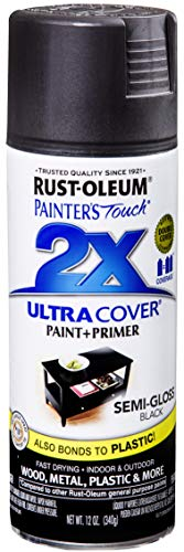 Rust-Oleum 249061 Painter's Touch Multi Purpose Spray Paint, 12-Ounce, Black