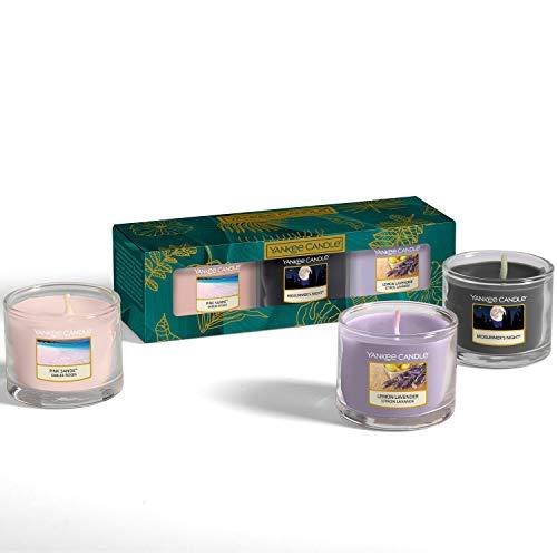 Yankee Candle - Set regalo con 3 mini candele profumate, collezione The Last Paradise, ideale per la festa della mamma