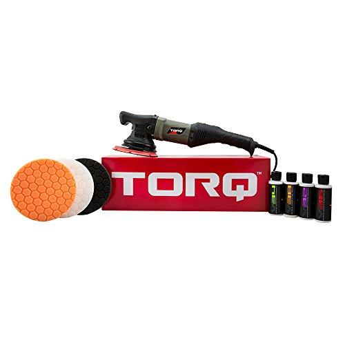 Torq BUF502X TORQ22D Random Orbital Polisher Kit, Polisher and 8 Items