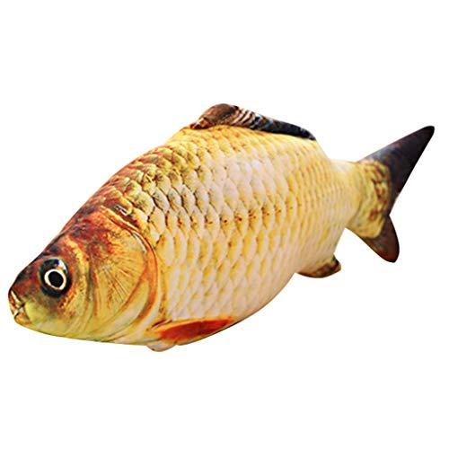SMEJS Creativa Forma de pez Juguete Gato Jugando Suave Felpa de Peluche de Juguete decoración for el hogar Regalos (Size : 20CM)