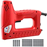 Goplus Electric Brad Nailer, Multi-tacker Staple Nail Gun for Upholstery and Home Improvement, Includes 800pcs Staples and 200pcs Nails